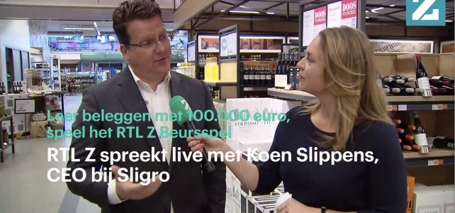 Interview met Sligro-CEO Koen Slippens I Livestream RTL Z Beursspel