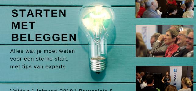 Janneke organiseert seminar: Starten met Beleggen 2019